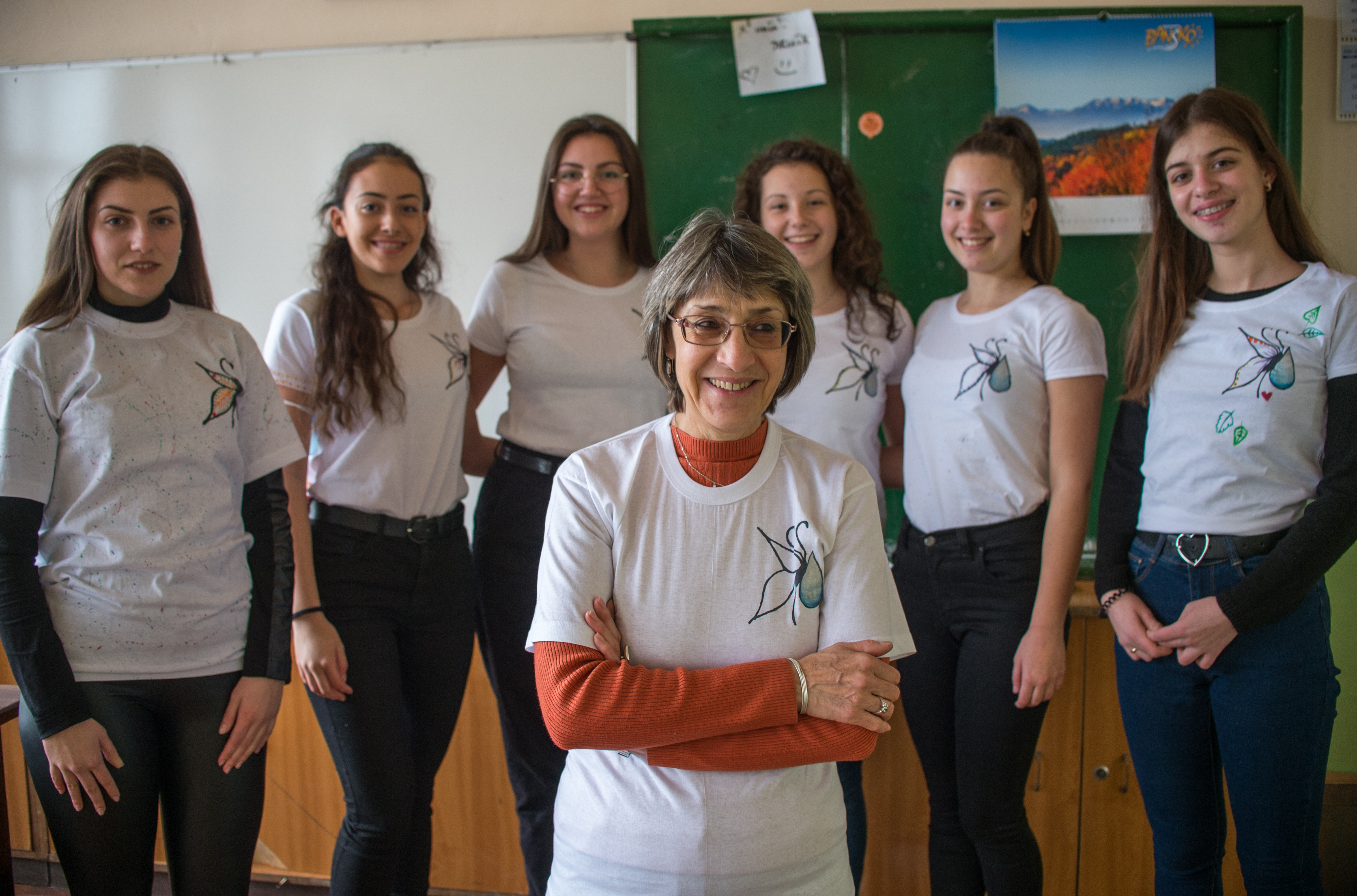 Achieving more together: Katya Brankova was able to inspire her students to join her cause. © Nikolay Doychinov